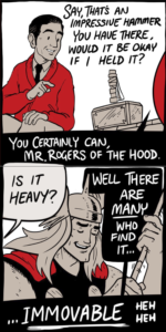 Mr Rogers and Thor